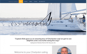 Seamour Sailing Web screen shot