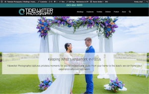 Screen shot of website created by Tidewater Creative Media