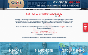 RedFin Charters Website Screenshot