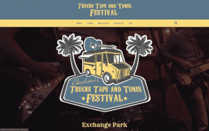 Trucks Taps Tunes website