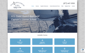 Adams Marine Seminars website
